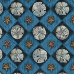 Sand Dollar Diamonds Blue Fabric