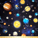 Stargazers Planet Stars Outer Space Fabric