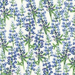 Greetings From Texas Bluebonnets Flowers Cream Fabric