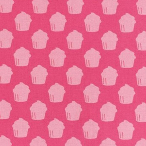 Baked with Love Cupcake Pink Fabric