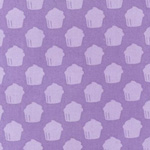 Baked with Love Cupcake Purple Fabric