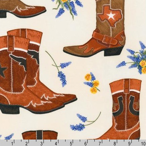 Greetings From Texas Boots Fabric