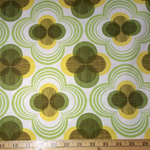 Auntie's Attic CANVAS Geomentric Avocado Green Fabric