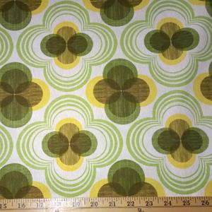 Auntie's Attic CANVAS Geomentric Avocado Green Fabric