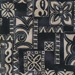 Surf N' Tropicals Black PoplinFabric