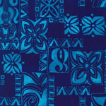 Surf N' Tropicals Turquoise Poplin Fabric