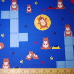 Pet Park Hamsters Blue Fabric