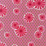Pop Posies Pink Daisy Organic Fabric