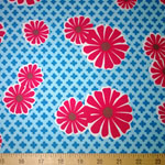 Pop Posies Cornflower Daisy Organic Fabric