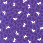 Fancy Flight Butterfly Purple Organic Fabric