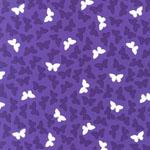 Fancy Flight Butterfly Purple Organic Fabric