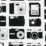 Boy Toys Retro Camera Fabric