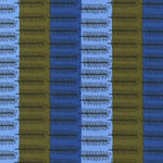 STOCKHOLM Blue Brown Stripe Fabric
