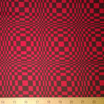 Night and Day Geometric Circle Red Black Fabric