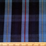 Poly Twill Blue Plaid Fabric