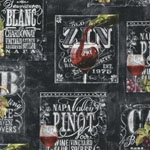 Wine List Wine Label Black Fabric