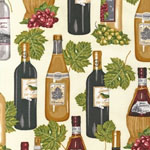 Vineyard Collection Wine Bottle Ivory Fabric
