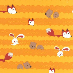 Forest Playground Fox Sunshine Fabric