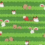 Forest Playground Fox Nature Green Fabric