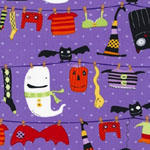 Stitchy Witchy Haunts Purple Fabric
