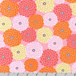 Reverie Garden Mum Flowers Pink Fabric