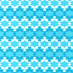 Fancy Flight Organic Geometric Aqua