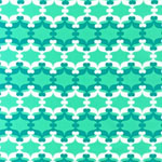 Fancy Flight Organic Geometric Seafoam Green Fabric