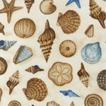 Hidden Cove Sea Shells Cream Fabric