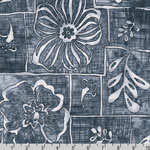 Road to HALEIWA Hawaiian Gray Fabric
