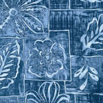 Road to HALEIWA Hawaiian Blue Fabric