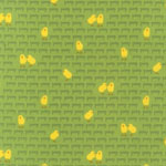 Barnyard Counting Chicks Green Fabric
