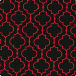 Metro Living Geometric Scarlet Fabric