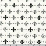 Metro Living Fleur-de-lis Grey Fabric