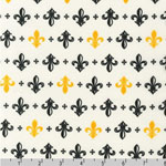 Metro Living Fleur-de-lis Gold Fabric