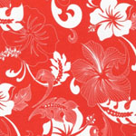 Road to HALEIWA Hawaiian Tangerine Fabric