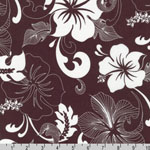 Road to HALEIWA Hawaiian Brown Fabric