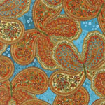 La Scala 5 Paisley Butterfly Spice Blue Fabric