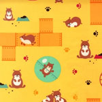 Pet Park Hamsters Yellow Fabric