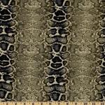 Laguna Jersey Knit Snake Print Cactus Fabric