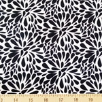 Modern Flower Black White Fabric