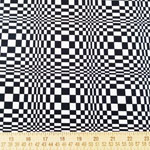 Night and Day Geometric CircleBlack Fabric