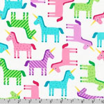 Wonder Unicorns Multi Color Pastel Fabric