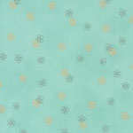 Satsuki 3 Japanese Flowers Seafoam Green Fabric