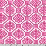 Laguna Prints Jersey Knit Geometric Pink Fabric