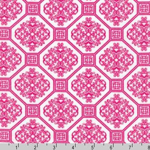 Laguna Prints Jersey Knit Geometric Pink Fabric