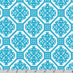 Laguna Prints Jersey Knit Geometric Aqua Fabric