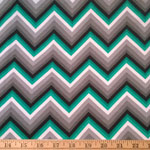 Laguna Jersey Knit Chevron Emerald Fabric