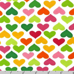 Laguna Jersey Knit Hearts Fabric