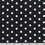 Laguna Jersey Knit Dots Black Fabric