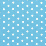 Laguna Jersey Knit Dots Aqua Blue Fabric